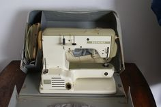 Free-arm Bernina in carrying case. Photographed from the back. :/
