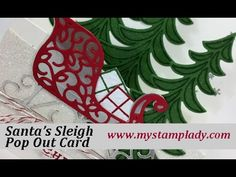 How To Make A Pop Out Stampin' Up! Santa's Sleigh Christmas Card