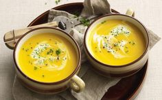 This easy pumpkin soup recipe is made in the slow cooker for a creamy dinner that tastes amazing. Add in some rice, pasta or bacon, if you like. Recipe by the Australian Women's Weekly.