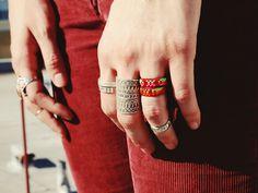 californian woven rings