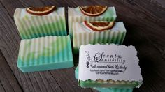 An updated version of the caipirinha soap.  Same recipe and e.o. used,  just the swirls are a bit different. Please go to www.scentandsensibility.com for more information.