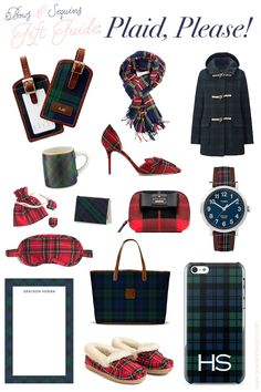 best plaid and tartan holiday gifts