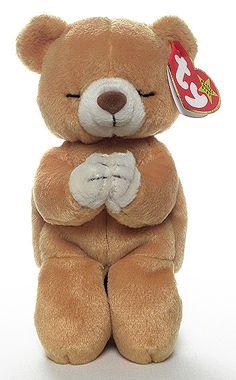 287007b0894 Rare Ty Beanie Baby Bear  1998 Hope Prayer Bear- with 1999 Error