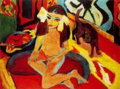 Ernst Ludwig Kirchner - Ragazza di gato_ Frä_nzi