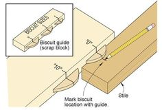 Eliminate the guesswork when it comes to figuring out where the biscuit slot should go. Follow these simple steps and you'll avoid making careless mistakes.