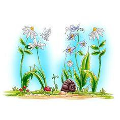 Whimsical Flowers digi stamp in Digital images