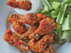 Baked Bourbon Buffalo Wings Now if we could get Wild Wing or to serve these Baked Chicken Wings, Chicken Wing Recipes, Crispy Chicken, Fried Chicken, Chicken Legs, Crunchy Chicken Wings Recipe, Chicken Breasts, Oven Chicken, Chipotle Chicken
