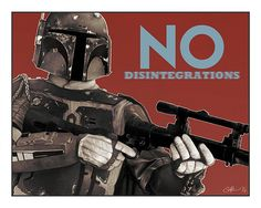 Star Wars - Boba Fett: No Disintegrations colour art print by Mygrimmbrother on Etsy
