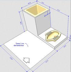 Image result for standar ukuran wc jongkok toilet umum