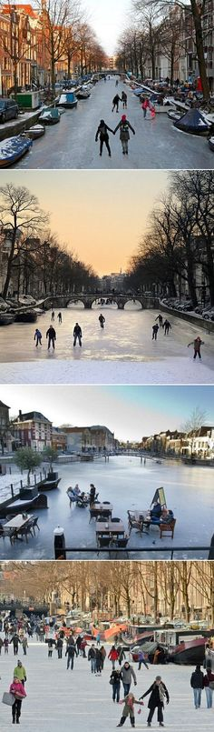 Amsterdam. was there over the summer but would love to go when its like this during the winter!