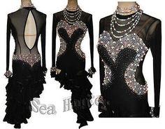 U3339 Ballroom Ladies latin rumba chacha dance competition dress Tailor made