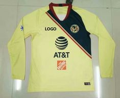 a05b28279 1819 Thai Quality With Logo Adult Mexico America Home Long Sleeve Soccer  Jersey Men Football Shirt