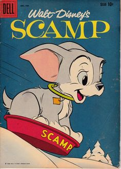 Scamp 8 December 1958 Issue  Dell Comics  Grade Fine