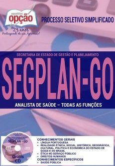 Saiba Mais -  Apostila SEGPLAN GO - Técnico e Analista de Saúde  #concursos Saiba como adquirir a sua http://apostilasdacris.com.br/apostila-segplan-go-tecnico-analista-saude/