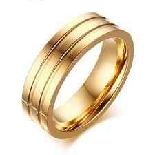 Risultati immagini per anello oro giallo senza pietre