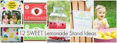12 Lemonade Stand tips, printables and party ideas.