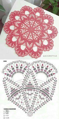 Crochet Dragon Pattern, Crochet Table Runner Pattern, Free Crochet Doily Patterns, Crochet Doily Diagram, Filet Crochet Charts, Crochet Flower Tutorial, Crochet Circles, Crochet Mandala, Crochet Tablecloth