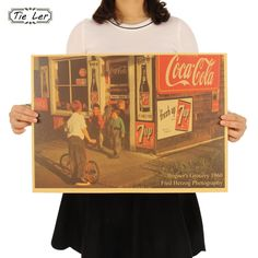TIE LER 60's American Street Shop Nostalgic Photography Posters Bar Decorative Painting Paper Crafts Wall Sticker 51.5X36cm