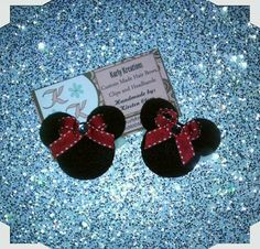 Adorable Minnie Mouse Set Barrett Clips by SealedWithMyLove, $4.50
