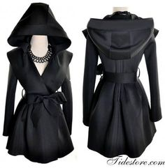 Hooded trench coat women fashion style . . click on pic to see more find more women fashion onhttp://www.halftee.com