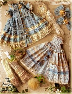 Intricate doll clothes