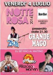 Comicità e Musica nella Notte Rosa del Beky Bay http://www.nottiromagnole.it/?p=13494