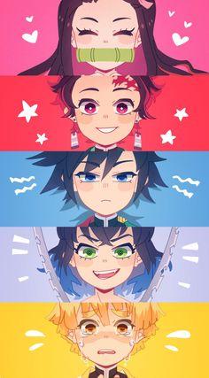 BIog dedicated to the anime and manga of Kimetsu no Yaiba: Demon SIayer. We mark anime (kny anime) and manga (kny manga) spoiIers. Anime Chibi, Chica Anime Manga, Fanarts Anime, Haikyuu Anime, Otaku Anime, Anime Boys, Kawaii Anime, Manga Girl, Anime Shop