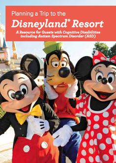 New Disneyland Resort Planning & Resource Guide for traveling guests w/ autism spectrum disorders. #autism #asd #travel