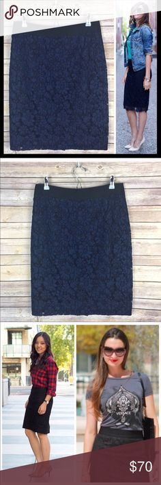 """NWT J. Crew Navy Heirloom Lace No 2 Pencil Skirt New, stunning fitted lace pencil skirt in rich navy. NWT. 23"""" long J. Crew Skirts Pencil"""
