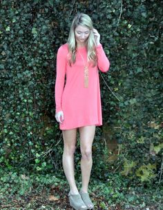 Best Bet Dress in Coral