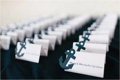 Nautical Newport Beach Yacht Wedding - Name Cards & Seating Charts - Anchor Wedding, Boat Wedding, Yacht Wedding, Nautical Wedding Theme, Beach Wedding Favors, Wedding Themes, Wedding Venues, Dream Wedding, Wedding Decorations