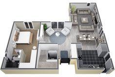 Villadite en L, à étage de130M². Au RDC, entrée avec porche donnant sur un grand séjour/salon/cuisine ouvert sur2 terrasses, unechambre parentale avec dressinget salle d'eau, WC. A l'étage,3 c [...]