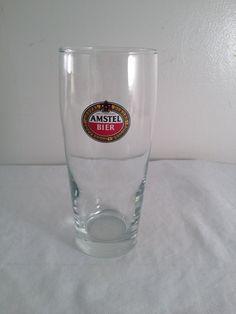Amstel Bier Amsterdam Holland beer glass 6.75in by ugliducklings