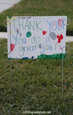 Acts of Kindness for Kids--Thank Your Sanitation Workers!