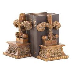 Shop for Fleur-de-lis Bookends (Set of 2). Free Shipping on orders over $45 at Overstock.com - Your Online Desktop