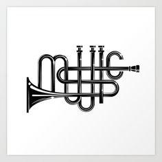 Music art print by Dreamshade