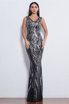 Glamorous Sequins V-Neck Mermaid Evening Party Gowns Long Prom Dress Online Affordable Prom Dresses, Prom Dresses Online, Dress Online, Homecoming Dresses, Evening Gowns Online, Evening Party Gowns, Evening Dresses, Formal Dresses, Mermaid Sequin
