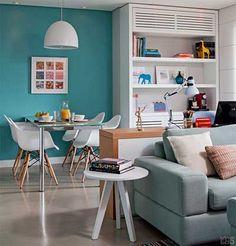 sala de estudos Family Office, Sweet Home, Decoration, Interior Design Living Room, Office Desk, Corner Desk, Kitchen, Furniture, Home Decor