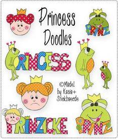 Princess Doodles Stickdatei Machine Embroidery Files