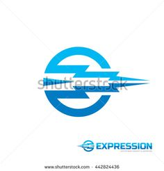 Expression - vector logo concept illustration. Circle and abstract shapes. Motion concept illustration. Design element.