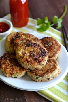 Thai Chicken Patties with Sweet Chili Sauce