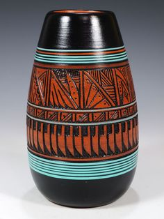Navajo Etched Pottery by Paul Lansing