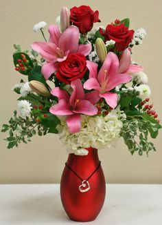 Buy flowers from your local florist in Riverside, CA - Willow Branch Florist of Riverside will provide all your floral and gift needs in Riverside, CA Valentine Flower Arrangements, Church Flower Arrangements, Vase Arrangements, Beautiful Flower Arrangements, Beautiful Red Roses, Amazing Flowers, Silk Flowers, Beautiful Flowers, Valentine Bouquet