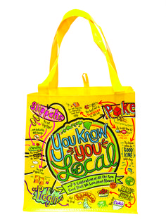 You Know You Local Reusable Grocery Bag Reusable Shopping Bags, Reusable Bags, Hawaiian Plate Lunch, Mai Tai, First Language, Knowing You, Grocery Store, Maui, English