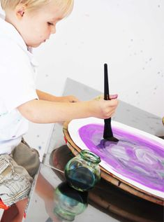 Lazy Susan Painting  |  small hands big art