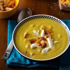 Split Pea Soup with Bacon & Crab.  Sub ham hock with a turkey leg, smoked if I can find it