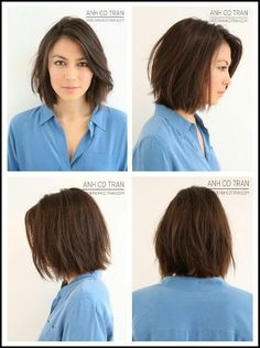 hair plan… growing my hair out long. an - Bayley Schonauer - - Layered bob. hair plan… growing my hair out long. hair plan… growing my hair out long. an Layered bob. growing my hair out long. and then cutting it to Short hair with light layers and Bob Haircut For Round Face, Round Face Haircuts, Haircut Medium, Round Face Short Hair, Short Hair Styles For Round Faces, Choppy Bob Hairstyles, Hairstyles With Bangs, Bob Haircuts, Short Straight Hairstyles