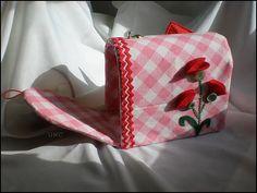 Paper Mache Valentine mailbox and pretty fabric slipcover. #diy #crafts #valentines day