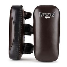 Boon Sport Deluxe Thai Kick Pads made in Thailand from premium top grain cowhide. Muay Thai Training, Brown Flats, Hand Wrap, Kicks, Pairs, Ankle, Sports, Leather, Sport