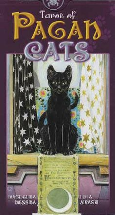 The Tarot of Pagan Cats sees the tarot from a cat's eye view. Based on the Rider-Waite symbolism, the pagan connection is subtle and the cards show cats behaving as natural felines in familiar tarot s Tarot Card Decks, Tarot Cards, Pagan Symbols, Pagan Art, Occult Art, Photo Chat, Tarot Spreads, Tarot Readers, Oracle Cards